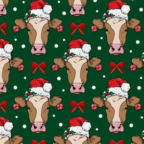 Cow with Santa Hat