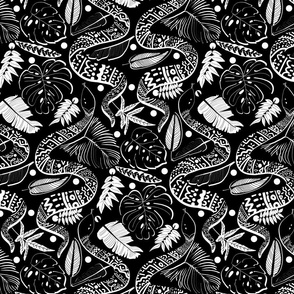 Tribal Black Mambas - Black (Large version)