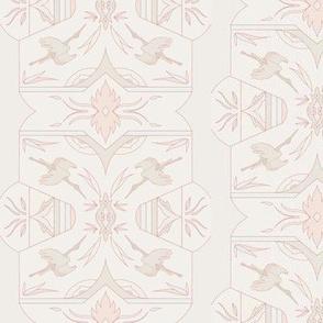 Art Deco Storks - Peach