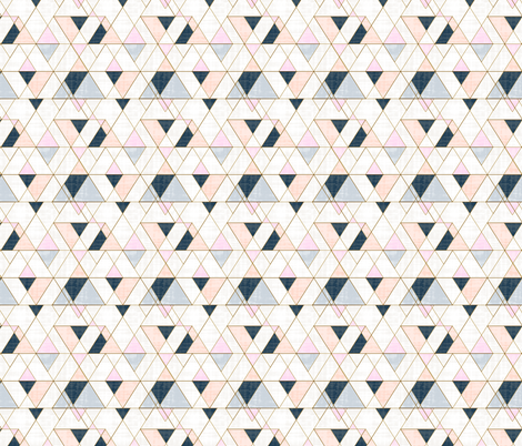 Mod Triangles S - Pink Peach fabric by crystal_walen on Spoonflower - custom fabric