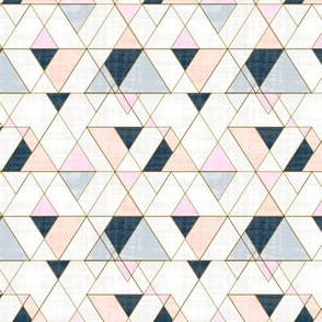 Mod Triangles S - Pink Peach