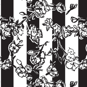 Cherry Blossom Stripes