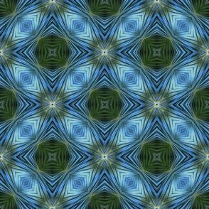 Angular Blue&Green Surface Pattern