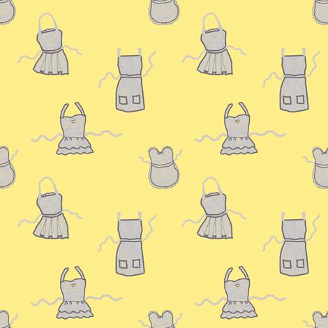 Apron Cupboard | Bee Dance fabric by lochnestfarm on Spoonflower - custom fabric