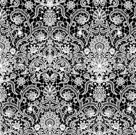 white vintage lace (small scale) fabric by svetlana_prikhnenko on Spoonflower - custom fabric