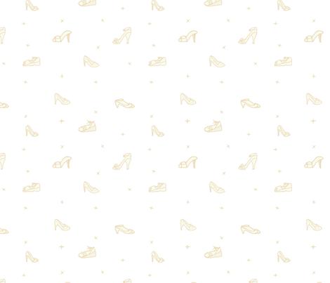 Shoe Shining on White fabric by lochnestfarm on Spoonflower - custom fabric