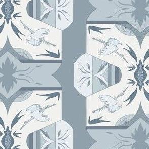 Art Deco Storks - Powder Blue