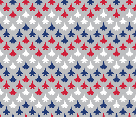 Jet Chevron (Red, White and Blue) fabric by robyriker on Spoonflower - custom fabric