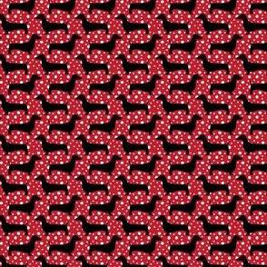 Polka Dachshund (Red Mini)
