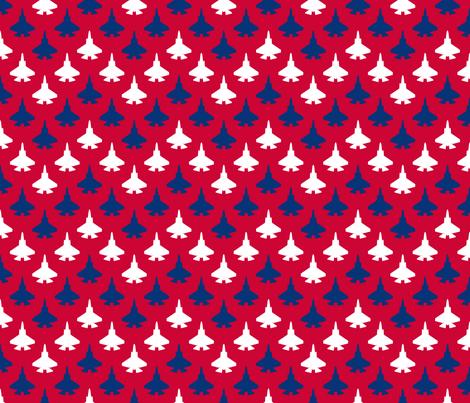 Jet Chevron (Patriotic) fabric by robyriker on Spoonflower - custom fabric