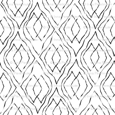 Black and white geometric diamonds
