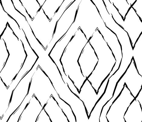Black and white geometric diamonds  fabric by inotra on Spoonflower - custom fabric