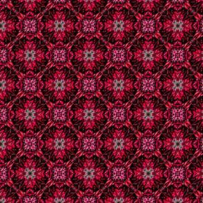 Bright Red Multilayered Surface Pattern