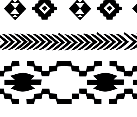 black and white stripes fabric by gomboc on Spoonflower - custom fabric