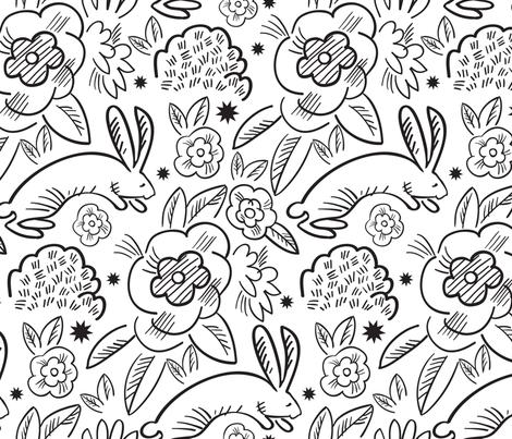 Hopping Bunnies fabric by vinpauld on Spoonflower - custom fabric