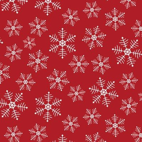 Snowflake Scatter - red