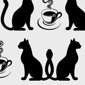 Cats love coffe
