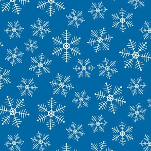 Snowflake Scatter - blue