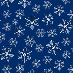 Snowflake Scatter - dark blue