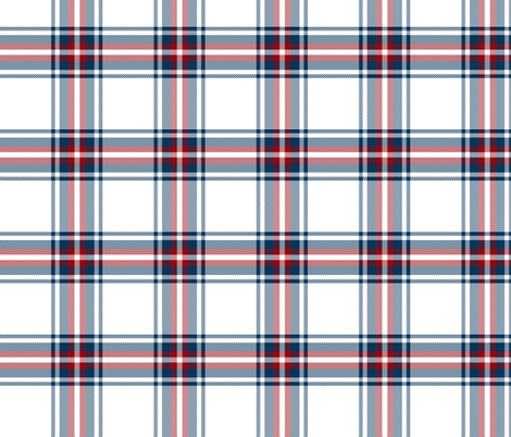 checkered blue red plaid fabric by miridesign on Spoonflower - custom fabric