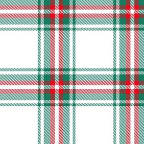 checkered green red plaid
