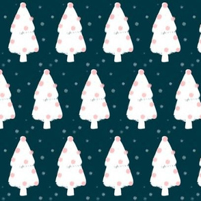 Christmas tree - blue & pink