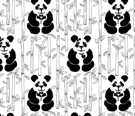 Ma and Pa fabric by petit_pois_boutique_ on Spoonflower - custom fabric