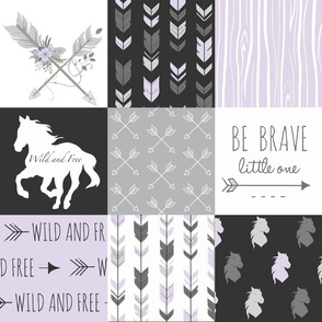 Horse Patchwork - Custom Be Brave - Lavender