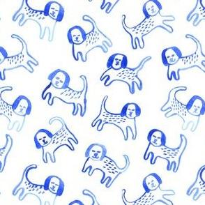 Watercolour puppies: smaller scale