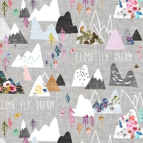 Mountain Dreams (grey) SML