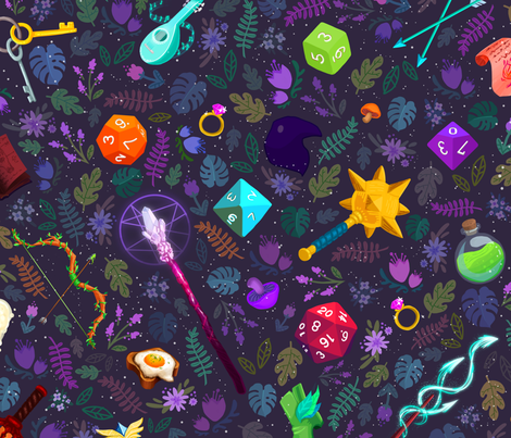 Adventuring Magic II fabric by noodlemancer on Spoonflower - custom fabric
