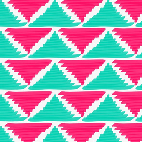 Triangles Pink and Turquoise