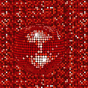 Disco Ball Red Sequins