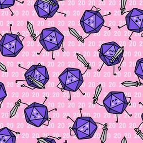 The Mighty Fighting d20s in Purple & Pink