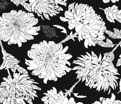 Chrysanthemum fabric by nina_leth on Spoonflower - custom fabric