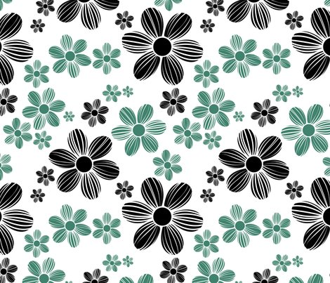 Viridian-green-licorice-black-color-summer-daisy-flower-pattern_shop_preview