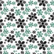 Viridian-green-licorice-black-color-summer-daisy-flower-pattern_shop_thumb