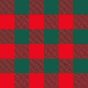 christmas red green buffalo plaid