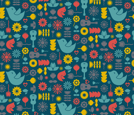 Fika Vivid fabric by seesawboomerang on Spoonflower - custom fabric
