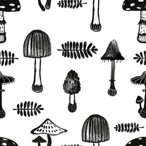 Ink mushrooms.