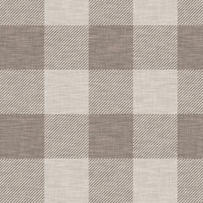 "2"" textured Buffalo check - taupe"