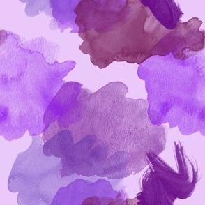 Purple Watercolor Splotches