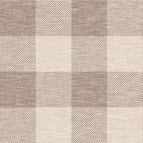 "2"" Buffalo check - light brown, tan linen"