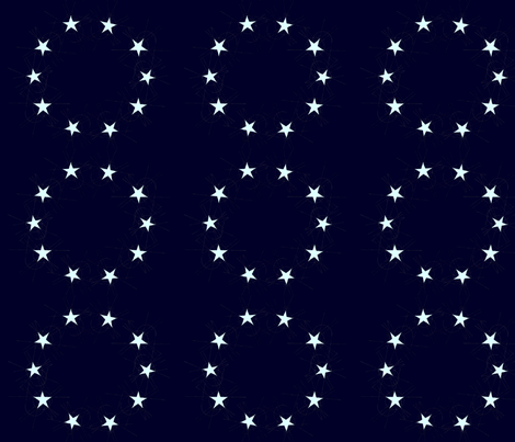 stars in circle fabric by valc102 on Spoonflower - custom fabric