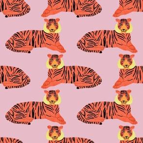 Tiger (Bubblegum Pink) / zoo safari adventure animal wild wildlife jungle lion cat
