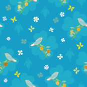 blue_bird_branch_medallion_seaml_stock