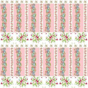border spring bouquet blush roses & lace vertical  - MED 6
