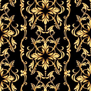 Golden pattern on black