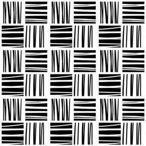 Stripes'n'squares large scale black and white