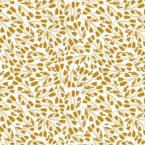 flowers two color golden in white